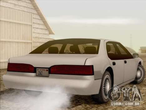 Fortune Sedan para GTA San Andreas esquerda vista