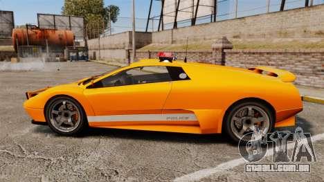 Infernus Police para GTA 4 esquerda vista