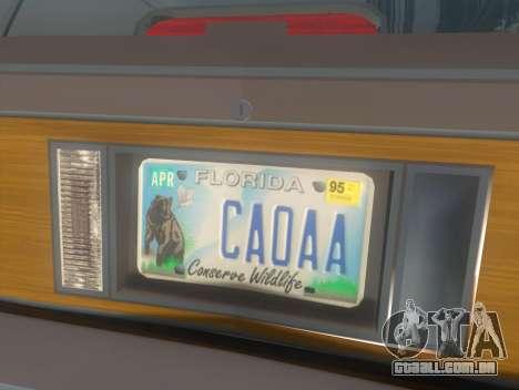 Oldsmobile Cutlass Ciera Cruiser para GTA San Andreas vista traseira