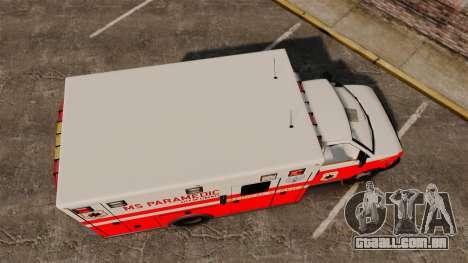 Brute Ambulance FDLC [ELS] para GTA 4 vista direita