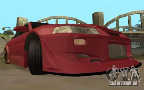 Mitsubishi Lancer Evolution VI para GTA San Andreas vista traseira