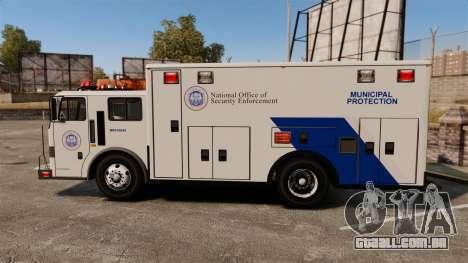 Hazmat Truck NOOSE [ELS] para GTA 4 esquerda vista