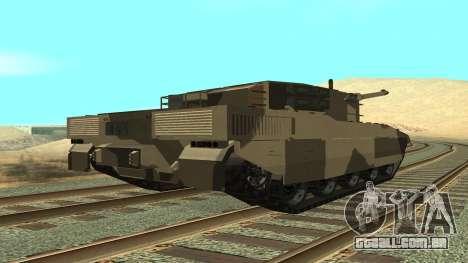GTA V Rhino para GTA San Andreas esquerda vista