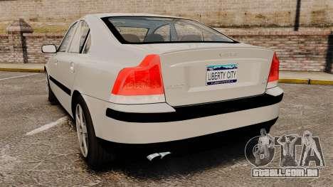 Volvo S60R para GTA 4 traseira esquerda vista