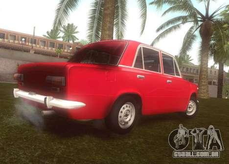 Fiat 124 para GTA San Andreas traseira esquerda vista