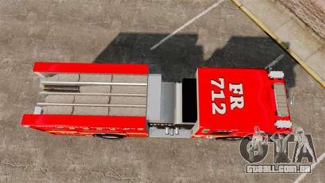 Crimson Spartan Gladiator Firetruck [ELS] para GTA 4 vista direita