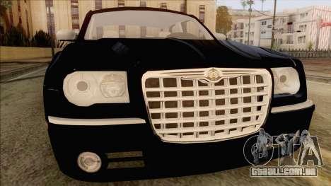 Chrysler 300C para GTA San Andreas vista traseira