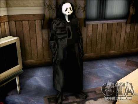 Maníaco do filme Scream para GTA San Andreas segunda tela