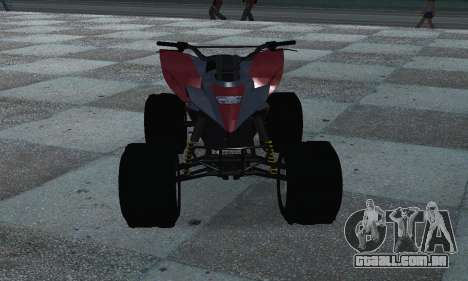 GTA 5 Blazer ATV para GTA San Andreas vista traseira