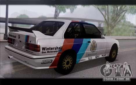 BMW M3 E30 Racing Version para GTA San Andreas esquerda vista