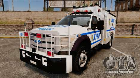 Ford F-550 2012 NYPD [ELS] para GTA 4