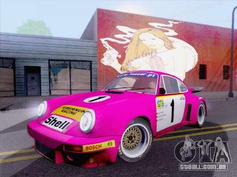 Porsche 911 RSR 3.3 skinpack 5 para GTA San Andreas esquerda vista