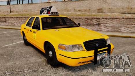 Ford Crown Victoria 1999 NY Old Taxi Design para GTA 4