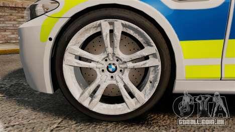 BMW M5 Marked Police [ELS] para GTA 4 vista de volta