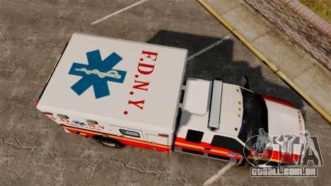 Ford F-350 2013 FDNY Ambulance [ELS] para GTA 4 vista direita