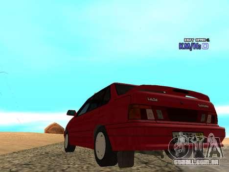 VAZ 2115 táxi para GTA San Andreas traseira esquerda vista