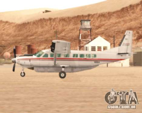 Cessna 208B Grand Caravan para GTA San Andreas esquerda vista