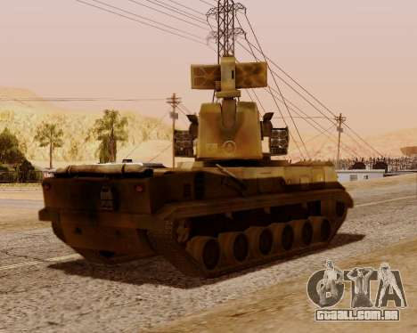2S6 Tunguska para GTA San Andreas vista traseira