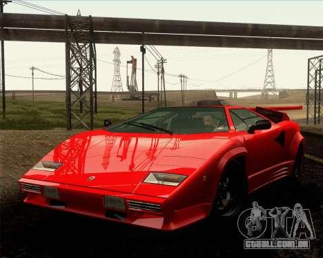 Lamborghini Countach LP500 Quattrovalvole 1988 para vista lateral GTA San Andreas