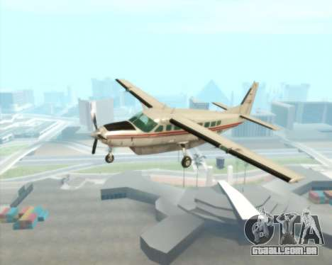 Cessna 208B Grand Caravan para GTA San Andreas vista interior
