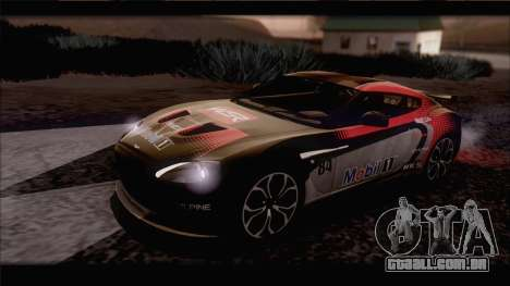 Aston Martin V12 Zagato 2012 [IVF] para vista lateral GTA San Andreas