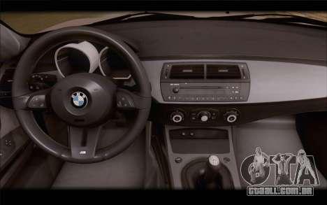 BMW Z4 Stance para GTA San Andreas vista direita
