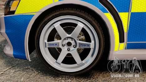Mitsubishi Lancer Evolution X Police [ELS] para GTA 4 vista de volta