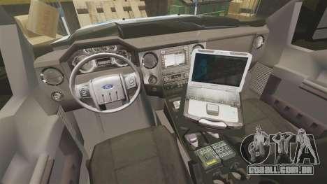 Ford F-550 2012 NYPD [ELS] para GTA 4 vista de volta