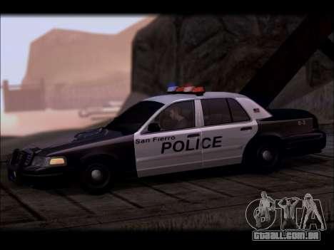 Ford Crown Victoria 2005 Police para GTA San Andreas esquerda vista