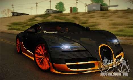 Bugatti Veyron Super Sport World Record Edition para GTA San Andreas esquerda vista