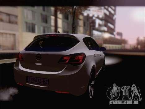 Opel Astra J 2011 para GTA San Andreas esquerda vista