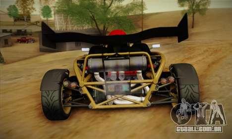 Ariel Atom 500 2012 V8 para GTA San Andreas vista direita