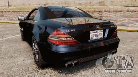 Mercedes-Benz SL65 AMG para GTA 4 traseira esquerda vista