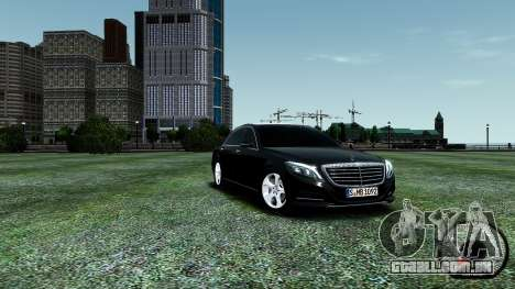 Mercedes-Benz S-Class W222 2014 para GTA 4 vista superior