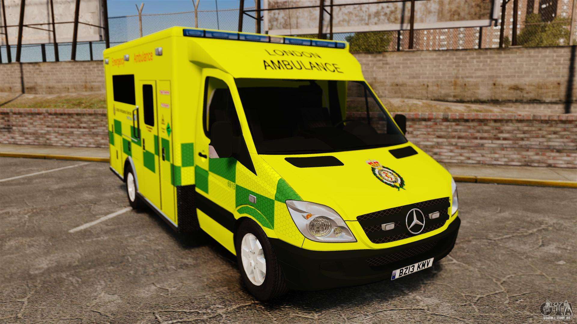 Mercedes benz sprinter els london ambulance para gta 4 for Mercedes benz london
