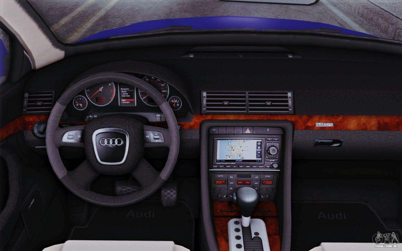 Audi A4 2005 Avant 3 2 Quattro Open Sky Para Gta San Andreas