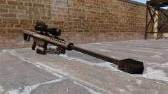 O Barrett M82 sniper rifle calibre 50