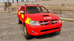 Toyota Hilux London Fire Brigade [ELS] para GTA 4