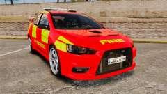 Mitsubishi Lancer Evo X Fire Department [ELS] para GTA 4