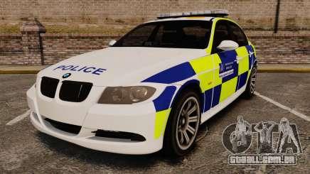 BMW 330i Metropolitan Police [ELS] para GTA 4