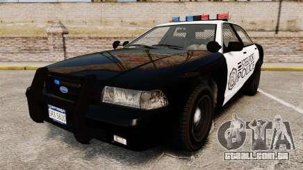 GTA V Vapid Steelport Police Cruiser [ELS] para GTA 4