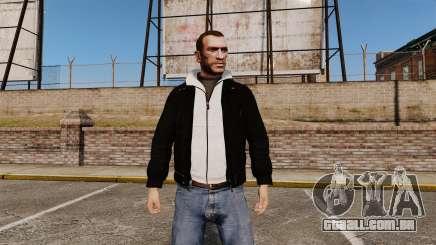 Jaqueta de couro preta para GTA 4