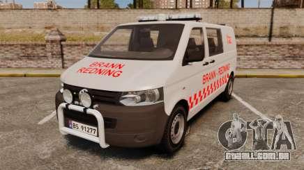 Volkswagen Transporter T5 2010 [ELS] автобус para GTA 4