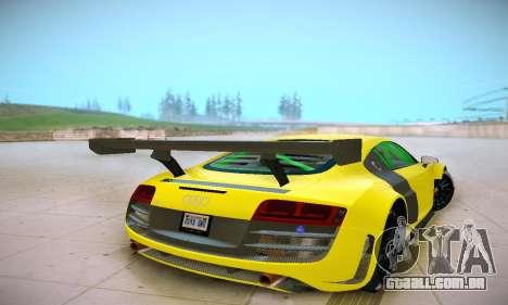 Audi R8 LMS Ultra v1.0.0 para GTA San Andreas vista direita