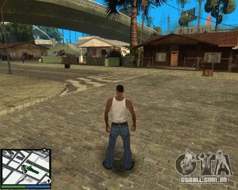 GTA V hud para GTA San Andreas
