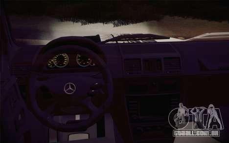 Mercedes-Benz G55 AMG para GTA San Andreas vista direita