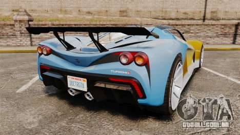 GTA V Grotti Turismo R para GTA 4 traseira esquerda vista