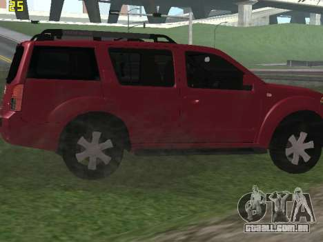 Nissan Pathfinder para GTA San Andreas vista direita