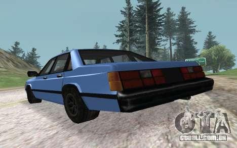 Premier VC para GTA San Andreas traseira esquerda vista