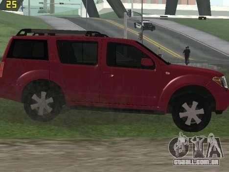 Nissan Pathfinder para GTA San Andreas vista traseira